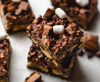 Milky Way Triple Layer Crack Brownie Bars