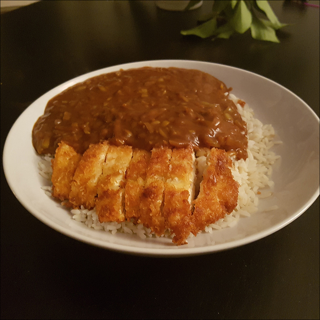 """Tori katsu curry"" or chicken cutlet curry"