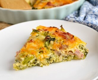 Syn Free Ham and Broccoli Quiche