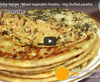 Mix Veg Paratha Recipe Video