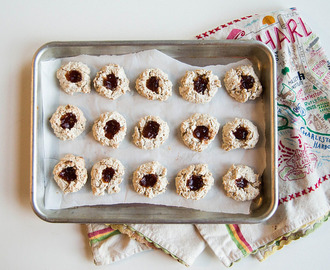 Jam and Oat Meringue Cookies (Gluten Free)
