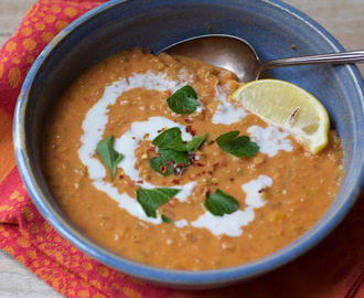 Curried Lentil and Coconut Soup