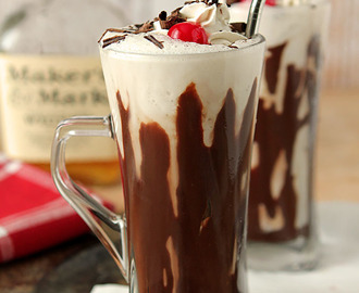 Bourbon and Hot Fudge Milkshake
