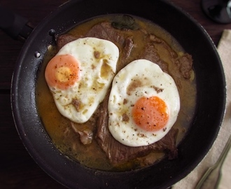 Veal steak with egg | Food From Portugal