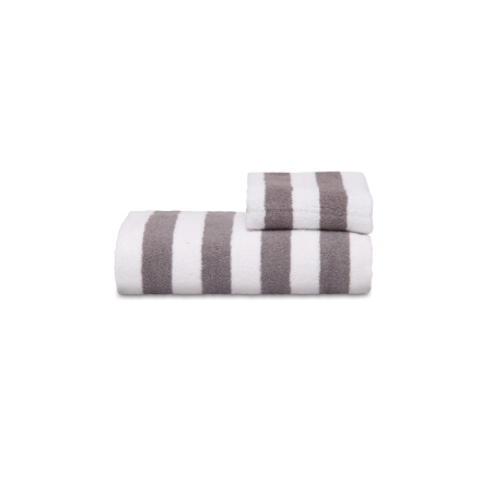Zebra Collection Handduk Stripe Stor- Antracit