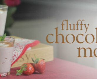 Fluffy chocolate mousse
