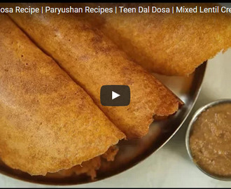 Mixed Dal Dosa Recipe Video