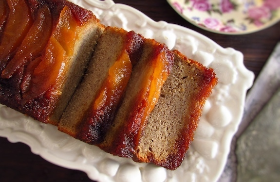 Banana cake with caramelized pear | Food From Portugal