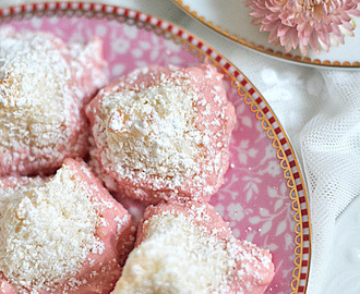 rosa Kokosberge * recipe * pink coco mountains