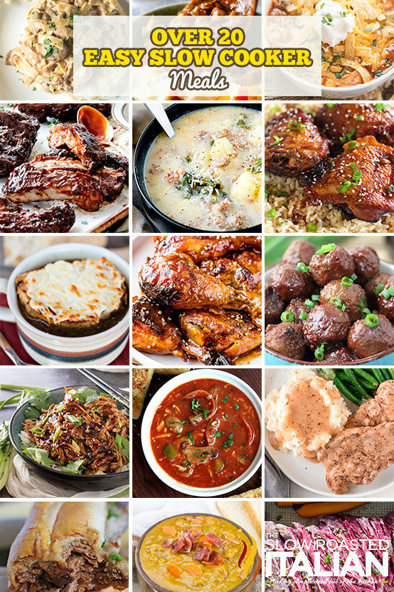 20+ Easy Slow Cooker Meals