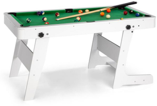 Trickshot spelbord biljard 140x64,5cm 16 bollar 2 köer MDF vit