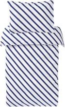 LINES MINI påslakanset 2 delar - ekologisk Blå