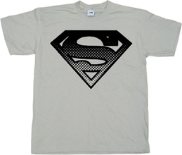 Superman Halftone Shield T-Shirt, Basic Tee