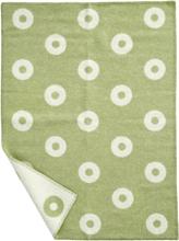 Babyfilt RINGS BABY grön, Klippan Yllefabrik