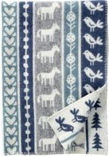 Barnfilt NATURE grå/ blå, Klippan Yllefabrik