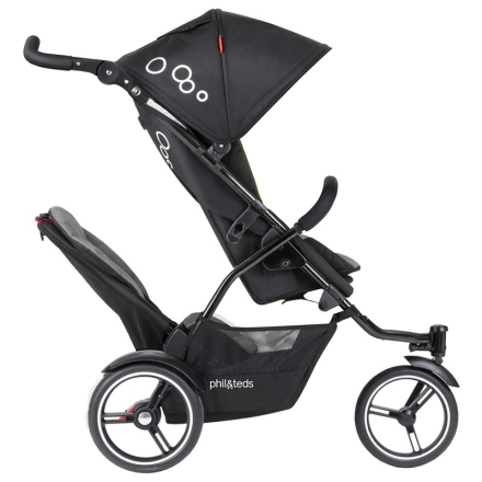 Phil and TedsSittvagn med syskonsits, Dot Buggy with Double Kit, 3.0, Graphite