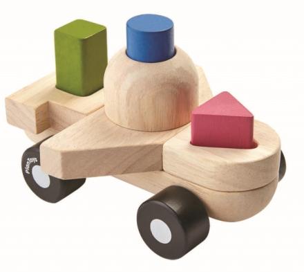 Staplande pussel - flygplan (Plan Toys)