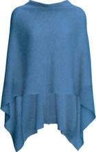 Poncho i ren kashmir från Peter Hahn Cashmere blå
