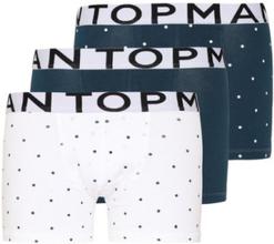 Topman Polka Dot Trunks 3 Pack Boxershorts Blue