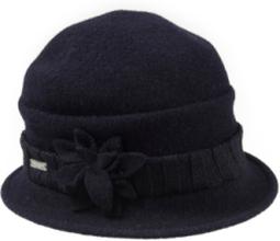 Klockformad valkad hatt från Seeberger blå