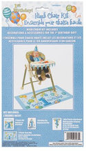 Första födelsedagen blå barnstol dekorations kit