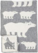 Polar Bear barnfilt eko lammull Grey, Klippan Yllefabrik