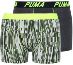 Puma Puma Basic Boxer 2P Digital Print Boxershorts Yellow