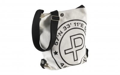 Pelle P Canvas Shoulder Bag White