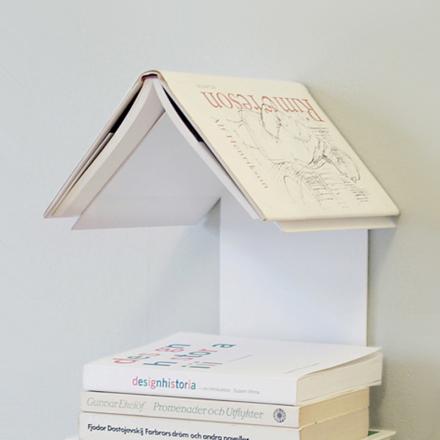 Readers Nest kirjahylly valkoinen