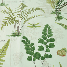Bimba stoff hvit med grønne blad