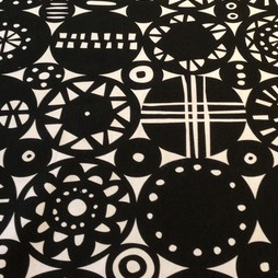 Retro stoff svart