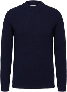 SELECTED Maritim - Strikket Pullover Men Blue