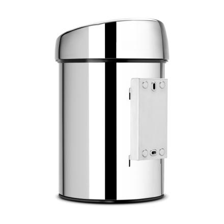 Touch Bin søppelbøtte 3 liter vegghengt briljant stål