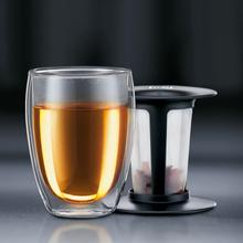 Tea For One glass med tesil sort