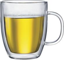 Bistro glass med dobbel vegg og hank 2-pakn. 0,45 l