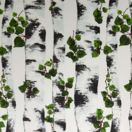 Björk stoff sort-hvit