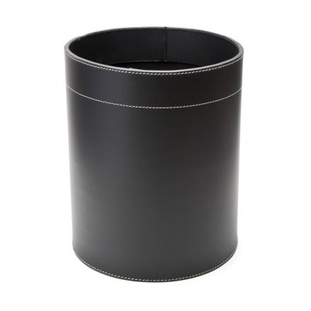 Ørskov papirkurv skinn sort