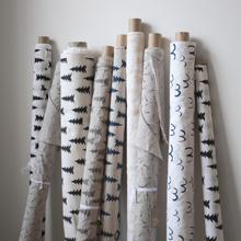 Gran tekstil pudderrosa-hvit