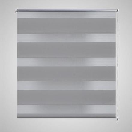 vidaXL Rullgardin randig grå 120 x 230 cm transparent