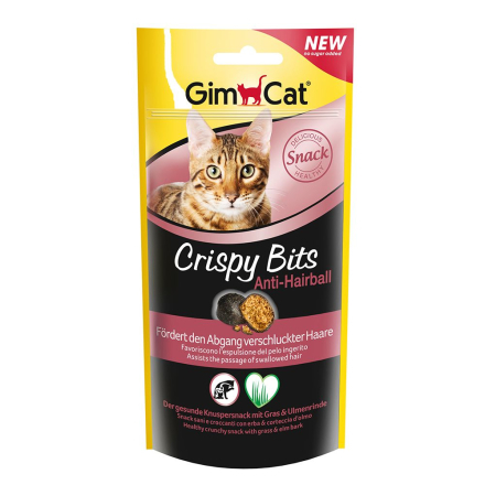 GimCat Crispy Bits Anti-Hairball - Økonomipakke 3 x 40 g