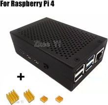 Latest Aluminum case with Heatsink for Raspberry Pi 4 Model B