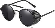 Solglasögon Retro med UV skydd - Svart/Grå