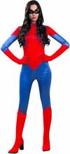 Rødt edderkop superhelt kostume voksen