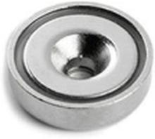 Undersænket pottemagnet, Ø16 mm. - Neodymium