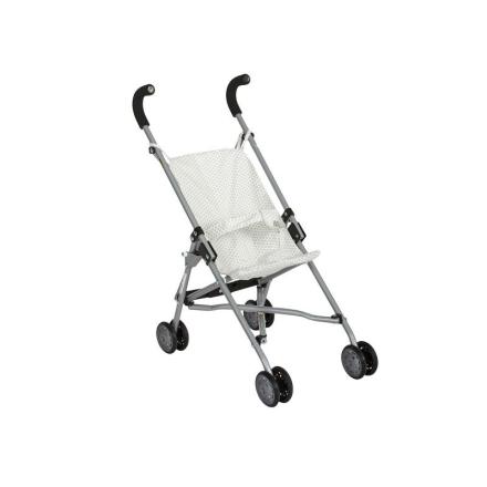 Barrutoys paraply dukkeklapvogn, grå prikker - LykkeLeg