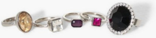NLY Accessories Power Chic Ring Set