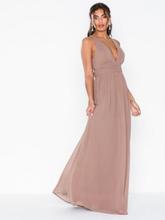 NLY Eve Empire Cross Back Dress Maxiklänningar Nougat