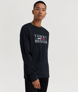 Tommy Hilfiger TOMMY HILFIGER LONG SLEEVE TEE Svart