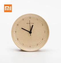 Original Xiaomi Mijia Wooden Clock about Time Alarm Clock Beech Wooden Mute Desktop Table Clocks Watch for Xiaomi Smart Home