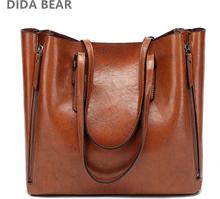 DIDA BEAR New Fashion Luxury Handbag Women Large Tote Bag Female Bucket Shoulder Bags Lady Leather Messenger Bag Shopping Bag